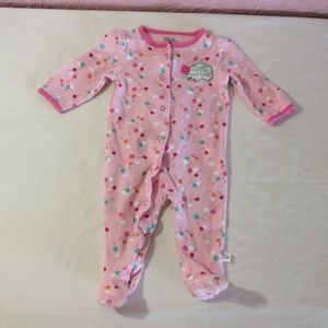 First Moments Infant Girls Sleeper 6M Pink